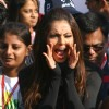 Bipasha Basu during the Delhi Half Marathon, in New Delhi