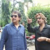 Shakti Kapoor and Kiran Kumar at Raqt-Ek Rishta film Mahurat at Filmistan