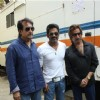 Shakti Kapoor, Sunil Shetty and Kiran Kumar at Raqt-Ek Rishta film Mahurat at Filmistan