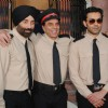 Dharmendra, Sunny Deol and Bobby Deol on the sets of their film Yamla Pagla Deewana at Filmcity, Mumba