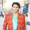 Ranveer Singh on the sets of Saas Bina Sasural