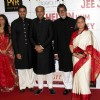 Ashutosh, Abhishek with Amitabh and Jaya Bachchan at Premier Of Film Khelein Hum Jee Jaan Sey