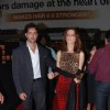 Bollywood actor Hrithik Roshan with his wife Suzzane Khan at the premiere of