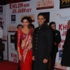 Bollywood actor Abhishek Bachchan and Deepika Padukone at the premiere of