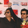 Bollywood actors Anil Kapoor and Sunil Shetty at Ambience Mall, in New Delhi to promote thier film