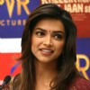 Deepika Padukone at a press conference to promote her film
