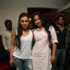 Rani and Vidya Balan promote their film No One Killed Jessica on Fever 104 FM at Saki Naka, Mumbai