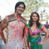 Rajneesh Duggal with Misti Mukherjee at Holi Song with Ganesh Acharya for film Main Krishan Hun at Kamalistan