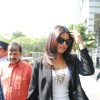 Priyanka Chopra arrives in an auto rickshaw for the 'PEARLS WAVE 2' press conference at Hotel Grand Hyatt in Kalina, Mumbai