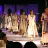 Models showcasing collection at the National Handloom Expo,in New Delhi
