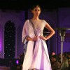 A model showcasing collection by Anju Modi at the National Handloom Expo,in New Delhi on Tuesday. .