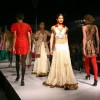 Models showcasing collections by Maghna Rai Medhi at the National Handloom Expo, in New Delhi on Tuesday. .