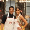 Katrina Kaif along with Akshay Kumar on Master Chef India set