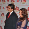 Big B and Aishwarya Rai at the Big Star Entertainment Awards held at Bhavans College Grounds