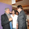 Prakash Jha with Big B AT Press Conf. for the Prakash Jha's upcoming movie ''Aarakashan'' at Novatel