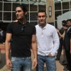 Aamir Khan and Prateik Babbar at the Unveiling of Dhobi Ghat's First Look, Andheri