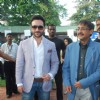 Saif Ali Khan and Arun Nayyar at Mid-day race at Mahalaxmi Race Course