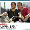 Lage Raho Munna Bhai poster intrducing Sanjay Dutt and Arshad Warsi