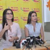 Vidya Balan and Rani Mukherjee arrive to promote the Hindi film � No One Killed Jessica� at a 98.3 FM Radio station