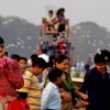 Tourists enjoy first day of New Year 2011 in Kolkata Maidan