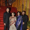 Aamir Khan with Kiran Rao at nephew Imran Khan's wedding ceremony with Avantika Malik in Pali Hill