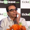 Dharmendra launched Ajay Devgan's new online venture ticketplease.com at Hotel JW Marriott in Juhu, Mumbai