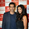 Arjun Rampal with wife Mehr Jessia at Triumph Lingerie Fashion Show 2011