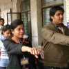 Young voters pledge to uphold the democratic traditions at a election centres in New Delhi on Tuesday. In order to encourage more young voters to take part in the political process, Government has decided to celebrate January 25 every year as ...