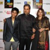Vishal Bharadwaj with his wife and son at Mirchi Music Awards 2011 at BKC