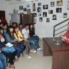 Satish Shah addressing students during a guest lecture at Roshan Taneja school of acting