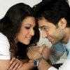 Romantic scene of Amita Pathak and Nakuul Mehta
