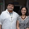 Deven Bhojwani and Kishori Godbole at the launch of Mrs.Tendulkar