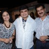 Deven Bhojwani, Jamnadas Majethia and Kishori Godbole at the launch of Mrs.Tendulkar