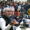 Bihar Chief Minister Nitish Kumar at a press conference in New Delhi on Wed 2 Feb 2011. .