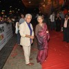 "Naseeruddin and Ratna Pathak Shah at Dev Anand's old classic film ""Hum Dono"" premiere at Cinemax"