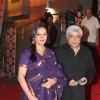 "Javed Akhtar and Shabana Azmi at Dev Anand's old classic film ""Hum Dono"" premiere at Cinemax Versova"