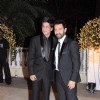 Shah Rukh and Aamir Khan at Imran Khan and Avantika Malik's Wedding Reception Party at Taj Land's End. .