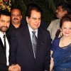Aamir with Dilip Kumar and Saira Banu at Imran Khan and Avantika Malik's Wedding Reception Party