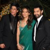 Aamir with Shah Rukh and Gauri Khan at Imran Khan and Avantika Malik's Wedding Reception Party