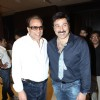Dharmendra with Sunny Deol at Yamla Pagla Deewana Film success party