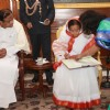 President Pratibha Devisingh Patil being enumerated for Census-2011 at Rashtrapati Bhawan on Wed 9 Feb 2011. .