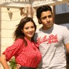 "Nilesh Sahay and Maddalsa Sharma at a press meet to promote their film ""Angel"""