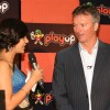 Cricketer Steve Waugh and Mandira Bedi at the launch of the Playup's live gaming segment, in New Delhi