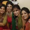 Debina Bonnerjee with her friends in their mehendi ceremony