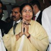 The Union Minister for Railways, Mamata Banerjee at Parliament House to present the Rail Budget 2011-12,on Friday. .
