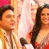 "Host Ali Asgar and Mona Singh at Imagine TV new reality Show ""Shaadi 3 Crore Ki"""