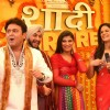 "Host Ali Asgar and Mona Singh with participants at Imagine TV new reality Show ""Shaadi 3 Crore Ki"""