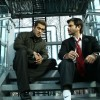 Anil Kapoor and Salman Khan sitting on the staircase