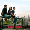 John Abraham,Katrina Kaif and Neil Nitin Mukesh sitting on a  railing | New York Photo Gallery