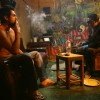 Abhay Deol and Dibyendu Bhattacharya smoking